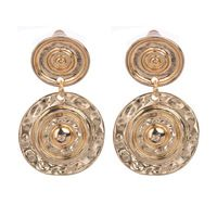 Hot Selling New Fashion 18k Real Gold& Silver Color Alloy Double Round Wrapped Sides Vintage Drop Earrings for women men Jewelry