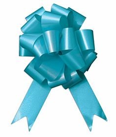 10 5 Aqua Blue Bow Pew Pull Bows Wedding Decorations Christmas Gift Wrap -- You can find more details by visiting the image link.(It is Amazon affiliate link) #paradise