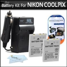 Today best deal and offered camera product 2 Pack Battery And Charger Kit For Nikon P100 P500 P510 P520 Digital Camera Includes 2 Extended (1100 Mah) Replacement Nikon EN-EL5 Batteries + AC/DC Rapid Charger + LCD Screen Protectors + ButterflyPhoto MicroFiber Cleaning Cloth    see more at:- http://www.canonslrcamerareviews.com/camera-photo-video/accessories/batteries-chargers/2-pack-battery-and-charger-kit-for-nikon-p100-p500-p510-p520-digital-camera-includes-2-extended-1100