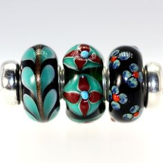 Trollbeads Gallery - Twins & Trios! Just listed-so rich and beautiful.  http://www.trollbeadsgallery.com/twins-trios-224/