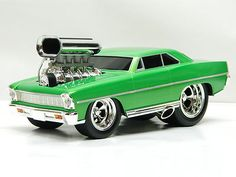 1967 CHEVY NOVA HOT ROD Muscle Machine 1:18 Scale DieCast Metal Model Car in box