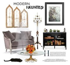 """""""Modern Haunted Gothic"""" by saifai ❤ liked on Polyvore featuring interior, interiors, interior design, home, home decor, interior decorating, Threshold, modern, interiordesign and hauntedhouse"""