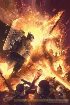 "EXCLUSIVE FIRST LOOK: Garner's Fiery ""Batman"" #16 Variant - Comic Book Resources"