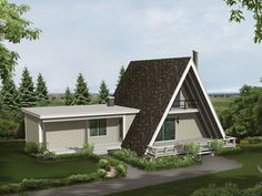 Conifer Cliff Vacation Home Vacation Retreat With Attractive A-Frame Styling fro. A Frame House Plans, Lake House Plans, House Plans And More, A Frame Cabin, House Floor Plans, A Frame Homes, Cottage Style House Plans, Tiny House Cabin, Cottage Style Homes