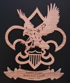 Eagle Scout Plaque Personalized Award Routered from 1 Thick Oak Lasered Eagle Scout Cake, Eagle Scout Gifts, Scout Mom, Cub Scouts, Eagle Scout Ceremony, Eagle Print, Scout Camping, Scout Leader, Scroll Saw Patterns