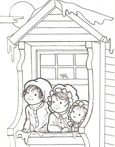 Coloring Pages for Kids Colouring Pics, Coloring Pages To Print, Coloring Book Pages, Coloring Pages For Kids, Kids Stamps, Children Sketch, Christmas Drawing, Theme Noel, Christmas Coloring Pages