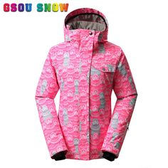 Women Winter Outdoor Sports Thicken Thermal Chill-proof Waterproof Pink Ski  Jacket Hot Sale Warm Coat 2016 New Arrival 0f68fb9b3