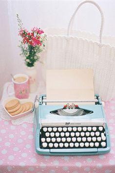blue typewriter=bliss