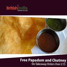 British India Restaurant offers delicious Indian, asian Food in Frinton On Sea, Colchester Browse takeaway menu and place your order with ChefOnline. Indian Food Recipes, Asian Recipes, Ethnic Recipes, Order Takeaway, Restaurant Order, Chutney, A Table, Menu, British