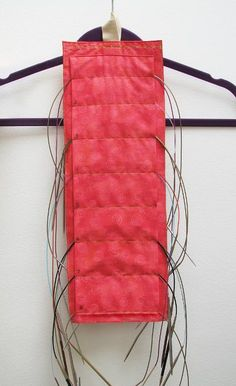 Looking for your next project? You're going to love Hanging Circular Needle Organizer by designer Myra Wood.