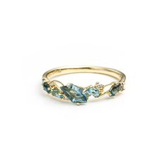 Royal Marquis Small Cluster Band Ring in 18k Gold | Alexis Bittar
