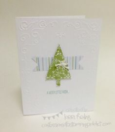 Simple Christmas card used for a class this month! Festival of trees is of my favorite stamp sets this season! Festival Of Trees Photopolymer Bun