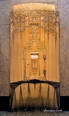 ailbox, New Jersey Bell Telephone – Newark, NJ | Art Deco Metalwork Gallery - Decopix - The Art Deco Architecture Site