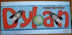 Card Gallery - Large DL Birthday DYLAN Rockets 3D decoupage