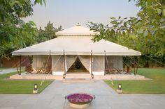 Dining tent at Aman-I-Khas resort, Rajasthan, India