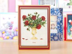 Make floral cards from the @hunkydorycrafts Little Book of Flowers! / cardmaking / papercraft / scrapbooking / papercraft