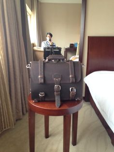 My classic briefcase in Shanghai