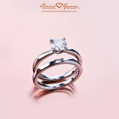 Engagement Ring Solitaire & Wedding Band