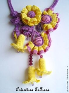 """Necklace """"Lilac Fairy Moon"""""""