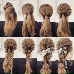 Braided Hairstyles: top 10 braided girl hairstyles for Long hair 2020 Pretty Hairstyles, Girl Hairstyles, Braided Hairstyles, Wedding Hairstyles, Hair Arrange, Dream Hair, Love Hair, Bridesmaid Hair, Hair Dos