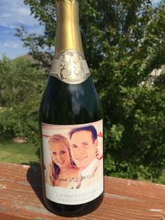 Custom Wine Labels, Champagne, Drinks, Bottle, Rose, Personalized Wine Labels, Drinking, Beverages, Pink