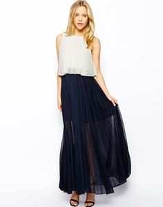 Browse online for the newest ASOS Pleat Layer Maxi Dress styles. Shop easier with ASOS' multiple payments and return options (Ts&Cs apply). Basic Outfits, Girl Outfits, Asos Dress, Dress Up, Zara, Maxi Robes, Costume, Minimalist Fashion, Spring Summer Fashion