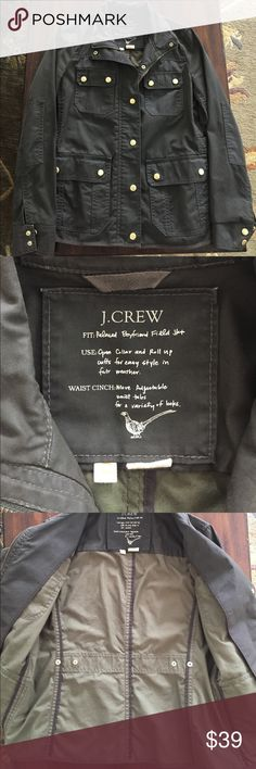 J.Crew Field Jacket Versatile and classic boyfriend field jacket from J.Crew. Great utilitarian pockets to hold anything and everything. Gold zipper and snaps. Fits true to size. In great condition. J. Crew Jackets & Coats Utility Jackets