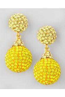 jose and maria barrera bracelets | Jose & Maria Barrera Pave Crystal Doubledrop Earrings Light Blue in ...