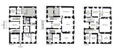 111 House of Duns, William Adam, all three floor plans, named