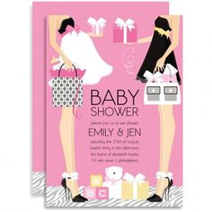 26 best baby shower invitations images on pinterest baby shower the classic couple baby shower pink two moms invitation by doc milo features two beautiful mamas filmwisefo