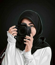 Tutorials hair flow art drawing inspiration i Cartoon Girl Images, Cute Cartoon Girl, Cartoon Cartoon, Cartoon Design, Portrait Vector, Cover Wattpad, Hijab Drawing, Islamic Cartoon, Hijab Cartoon