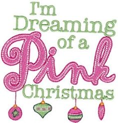 Pink Christmas - 2 Sizes! | Words and Phrases | Machine Embroidery Designs | SWAKembroidery.com Bunnycup Embroidery