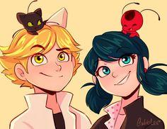 Miraculous 🐱 Can 🐞 Unite ( Diy Gift For Bff, Ladybug Y Cat Noir, Fanart, Miraculous Ladybug Wallpaper, Super Cat, Marinette And Adrien, Cartoon Girl Drawing, Animation, Anime Manga