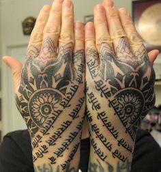Hand Tattoos by Thomas Hooper