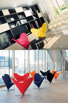 """Nothing says """"Be My Sweetie"""" like the Panton classic Heart chair. This modern vintage classic is iconic and colorful, and has zero calories. Who wouldn't want one?"""