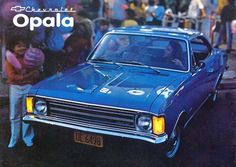 10938GM - CHEVROLET - Opala 1973 - De Luxo 2 portas - pl. DE-6498 (azul)* S - 41x29-