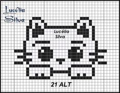 Motiv K Kitten - Breannes Crafting Brand name clothing online deals Brand name clothing is highly re Tiny Cross Stitch, Cat Cross Stitches, Cross Stitch Cards, Cross Stitch Animals, Cross Stitch Designs, Cross Stitching, Cross Stitch Embroidery, Cross Stitch Patterns, Needlepoint Stitches