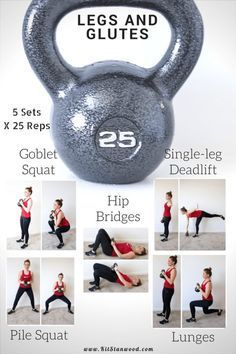 Powerful Leg and Glutes 25lb Kettlebell Workout Circuit