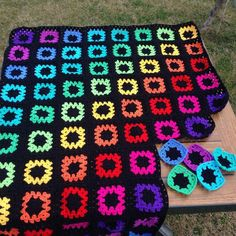 Simply granny squares, but I love these colors and layout