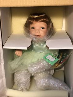 I Wish You Luck Ashton Drake Doll 1995 All I Wish For You Collection Porcelain  #TheAshtonDrakeGalleries Wish You Luck, My Wish For You, Ashton Drake, Wishes For You, Barbie Collector, Brunei, Trinidad And Tobago, Porcelain, Ebay