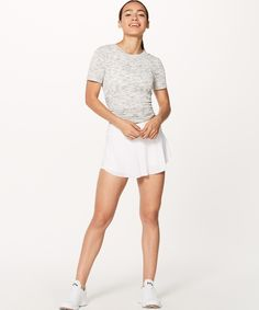 Run wild and free in this breezy skirt with built-in shorts and multiple pockets. Play Tennis, Wild And Free, Dress Skirt, White Shorts, Athletic, Running, Skirts, How To Wear, Pants