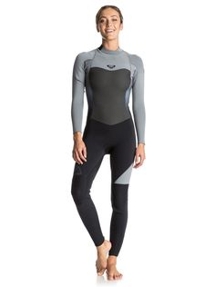 14d0b5fa23 Roxy Womens Roxy Syncro - Back Zip Full Wetsuit - Women - 12 - Black Black  12