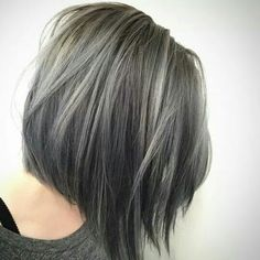 Grey Highlights In Dark Brown Hair 35 smoky and sophisticated ash brown hair color looks 564 X 564 pixels Winter Hairstyles, Pretty Hairstyles, Hairstyles 2016, Hairstyle Ideas, Simple Hairstyles, Wedding Hairstyles, Brunette Hair With Highlights, Brown Hair Silver Highlights, Dark Brunette