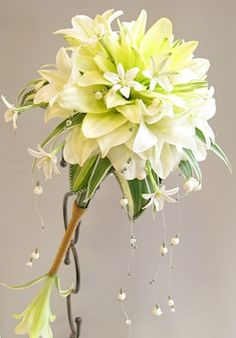 lily bouquet add red. So pretty