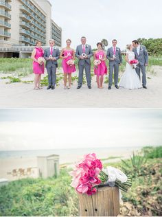 AMOUR #pink #beach #wedding :: Palm Beach Photography, Inc.