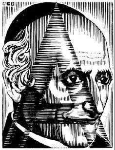 """Severe A // from M.C. Escher's series """"De vreeselijke avonturen van Scholastica"""""""
