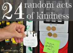 24 random acts of kindness ideas