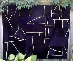 super cool quilt made from velvet & satin scraps