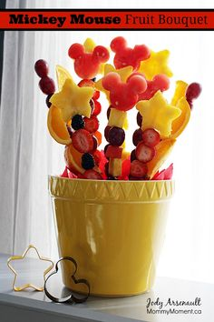 Mickey Mouse Party Fruit Bouquet