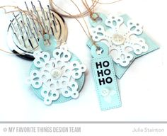 Sweet Snowflakes Holiday Gift Tags